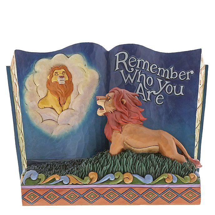 """Enesco Figurine Storybook Le Roi Lion """"N'oublie pas qui tu es"""", Disney Traditions"""