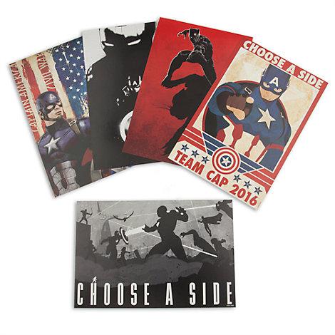 Ensemble de 5 lithographies Captain America : Civil War