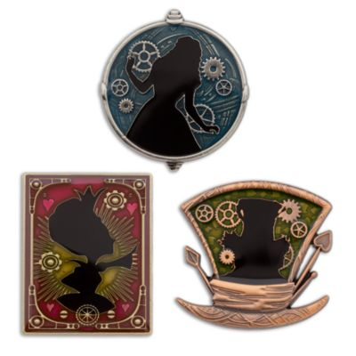 Alice Through The Looking Glass Limited Edition Pins, Set of 3