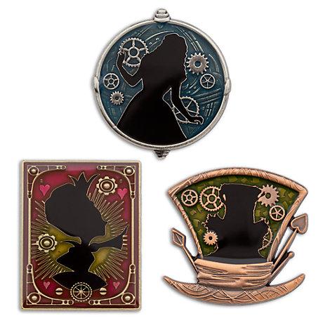 Alice i Spegellandet pins i begränsad upplaga, set med 3 st