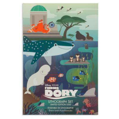 Set de cinco litografías de edición limitada de Buscando a Dory
