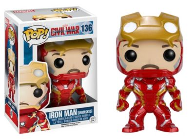 Unmasked Iron Man Pop! Vinyl Figure by Funko