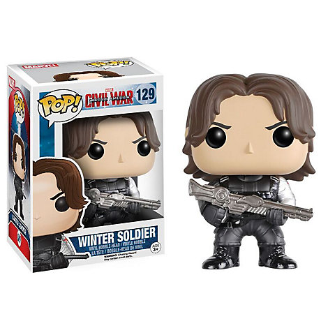 Soldat de l'Hiver Pop ! Figurine Funko en vinyle, Captain America : Civil War