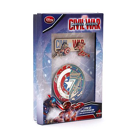 Set 2 pines edición limitada Capitán América: Civil War