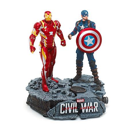 Captain America och Iron Man statyett i begränsad upplaga
