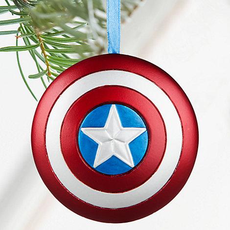 Captain America skjold som julepynt