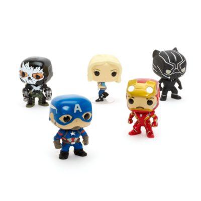 Captain America : Civil War Pop ! Ensemble de 5 figurines Funko en vinyle