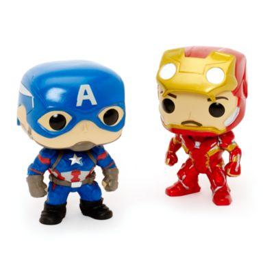 Captain America: Civil War Pop! Vinylfigurer fra Funko, sæt med 5 stk.