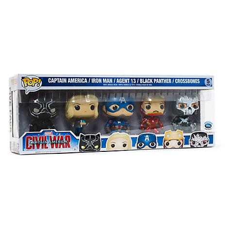 Figuras Pop! Capitán América: Civil War Figuras vinilo Funko, juego de 5