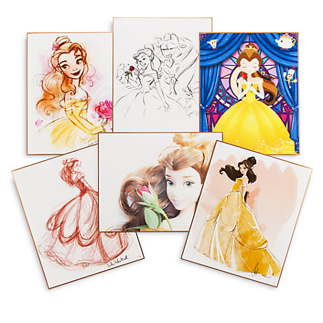 6 lithographies Art of Belle, en édition limitée