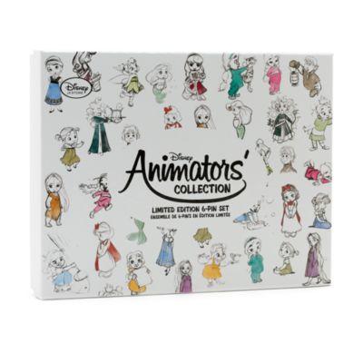 Disney Animators' Collection pins, sæt med 6 stk., begrænset antal