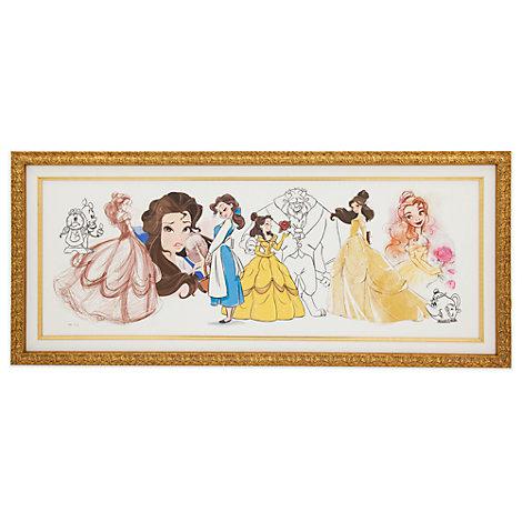 Stampa su tela con cornice in edizione limitata Art of Belle