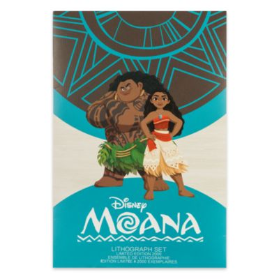 Moana Limited Edition Lithographs, Set Of 4