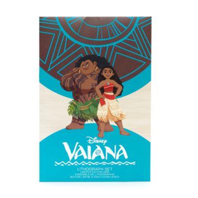 Vaiana litografier, sæt med 4 stk., begrænset antal