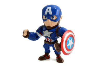 Modellino personaggio Capitan America 10 cm serie Metals, Captain America: Civil War