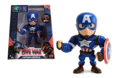 Muñeco a escala Capitán América Metals, Capitán América: Civil War (10 cm)