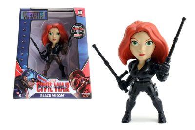 The First Avenger: Civil War - Schwarze Witwe Metals-Die Cast-Actionfigur (ca. 10 cm)