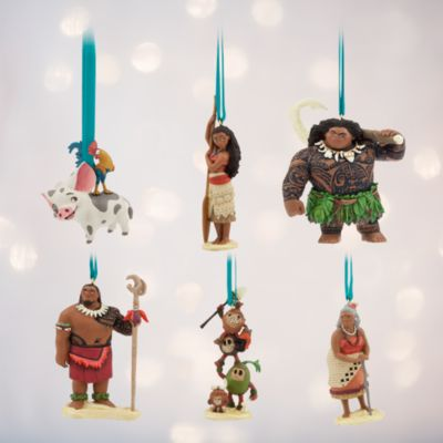 Moana Ornaments, Set of 6