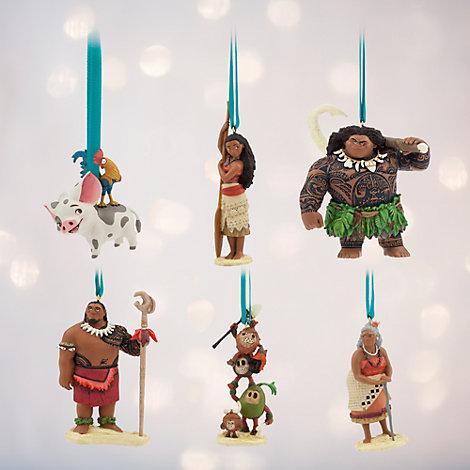 Moana Ornaments, Set of 6