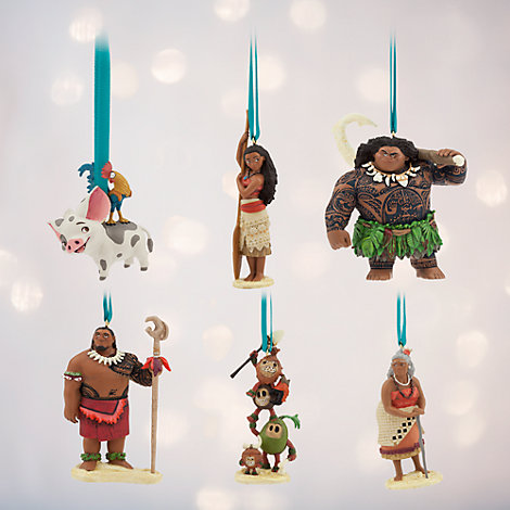 Lot de 6 décorations Vaiana