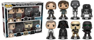 Rogue One: A Star Wars Story Pop ! Lot de 8 figurines par Funko en édition limitée