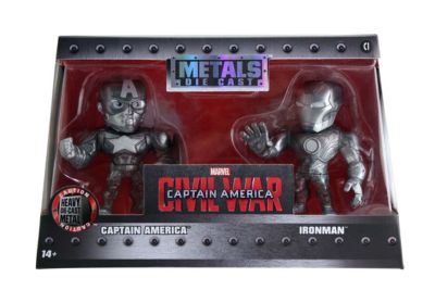 "Figuras a escala 4"" colecci¢n Metals Iron Man y Capit n Am'rica, Capit n Am'rica: Civil War"