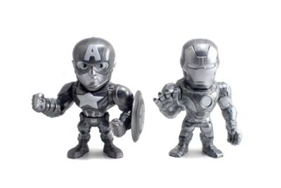 The First Avenger: Civil War - Iron Man und Captain America Metals Die Cast-Actionfiguren (ca. 10 cm)