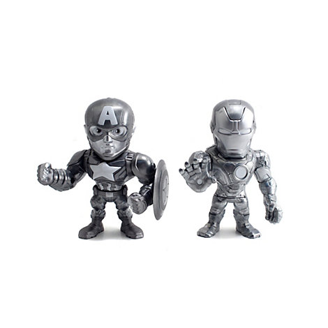 Figurines miniatures de 10 cm Iron Man et Captain America, Captain America : Civil War