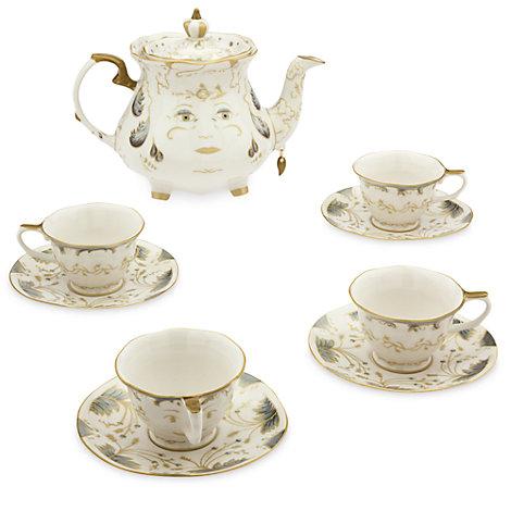 Service à thé en porcelaine La Belle et la Bête, édition limitée