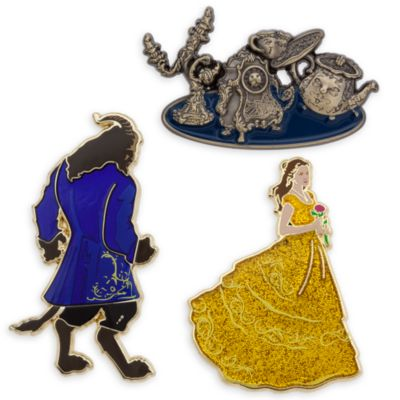 Beauty and the Beast Limited Edition Pins, Set of 3