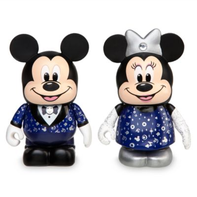 Disney Store 30th Anniversary Mickey and Minnie Mouse Vinyl Figures