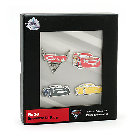 Disney Pixar Cars 3 Limited Edition Pins, Set of 4
