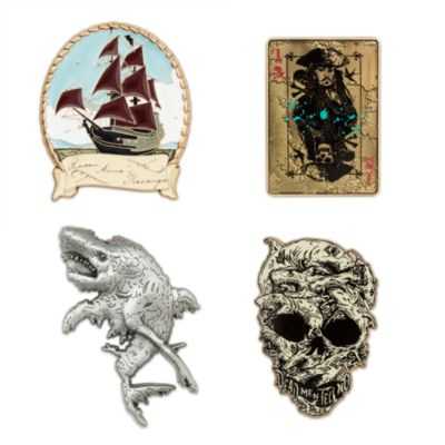 Set de 4 pins de Piratas del Caribe: La Venganza de Salazar Edición Limitada