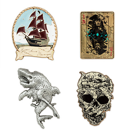 Pirates of the Caribbean: Salazar's Revenge Limited Edition Pins, Set of 4