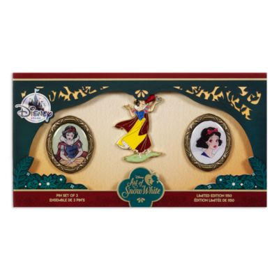Art of Snow White Limited Edition Pins, Set of 3