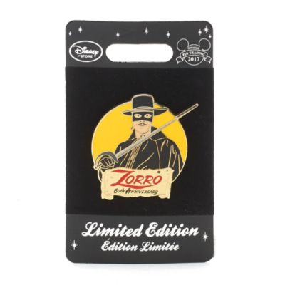 Zorro 60th Anniversary Limited Edition Pin