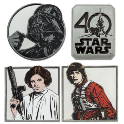 Star Wars pyntenåle i sæt med 4, i begrænset oplag i anledningen af 40-års jubilæet