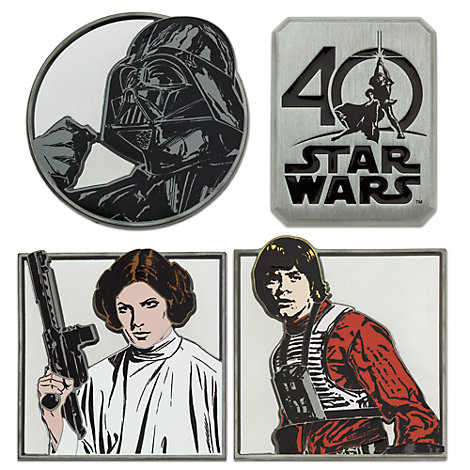 Star Wars 40th Anniversary Limited Edition Pins, Set of 4