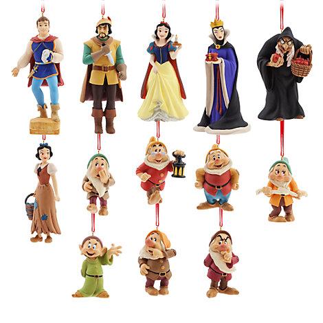 Adornos colgantes de edición limitada Art of Snow White, paquete de 13