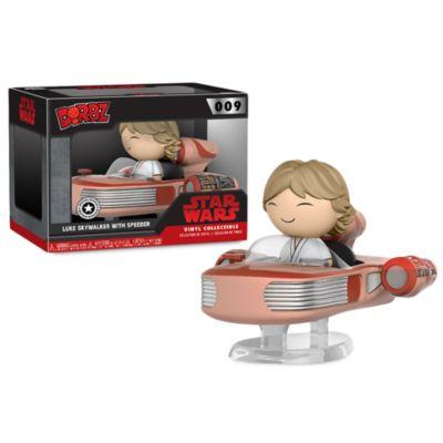 Personaggio in vinile serie Dorbz di Funko Luke Skywalker con Speeder