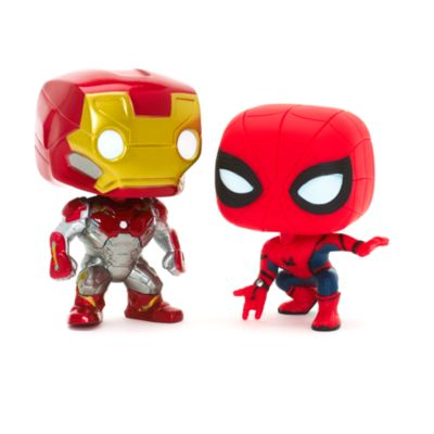Iron Man and Spider-Man Pop! Vinyl Figures by Funko