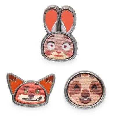 Ensemble de 3pin's emoji Zootopie
