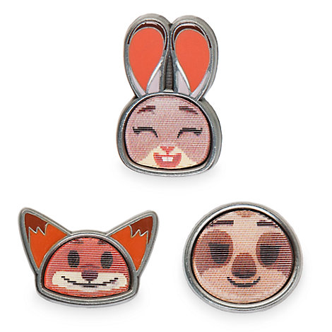 Zootropolis Emoji Pins, Set of 3