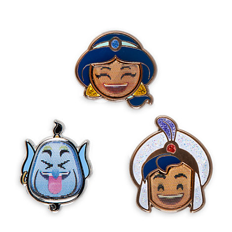 Aladdin Emoji Pins, Set of 3