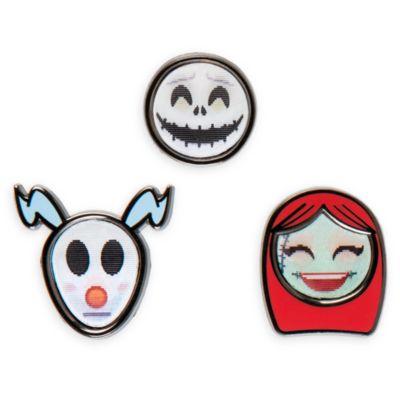 Emoji nåle fra The Nightmare before Christmas, sæt med 3 stk.