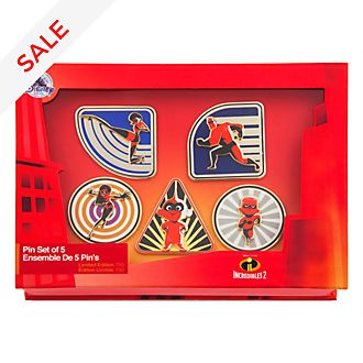 Incredibles 2 Limited Edition Pins, Set of 5