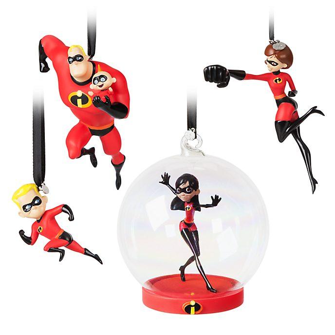 Disney Store Incredibles 2 Hanging Ornaments, Set of 4