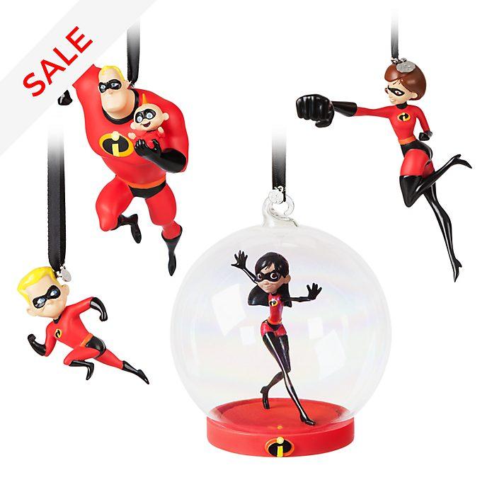 Disney Store Incredibles 2 Hanging Ornaments, Set of 4