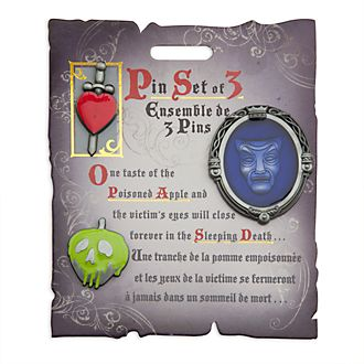 Disney Store Disney Villains Snow White Pin Set