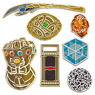 Disney Store Marvel 10th Anniversary Pins, Set of 7